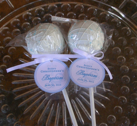 Baptism and Christening Custom Paper Favor Tags - For Cake ...