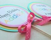 Lollipop Party Centerpieces - set of 4 - sweet shoppe lollipop collection