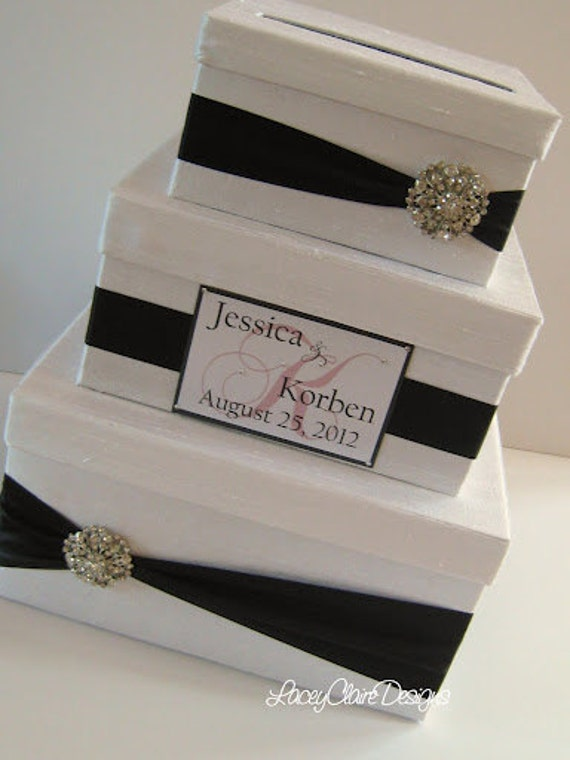 Wedding Gift Money Card : Wedding Gift Box Card Box Money Holder by LaceyClaireDesigns