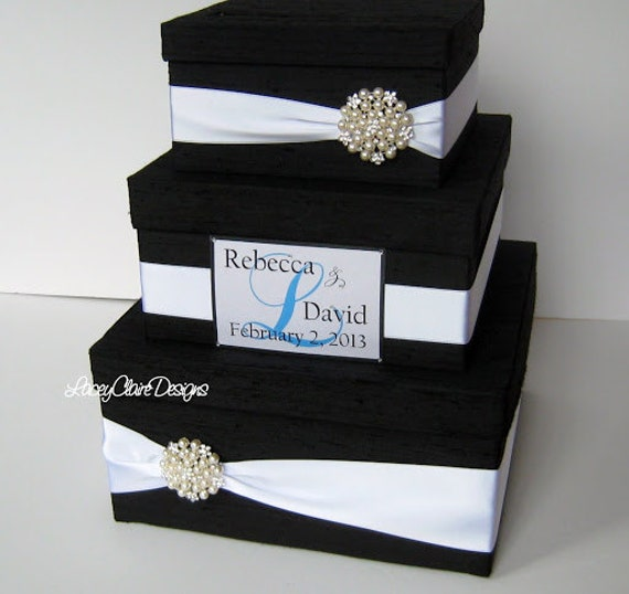 Wedding Gift Card Containers : Wedding Gift Box Card Box Money Holder by LaceyClaireDesigns