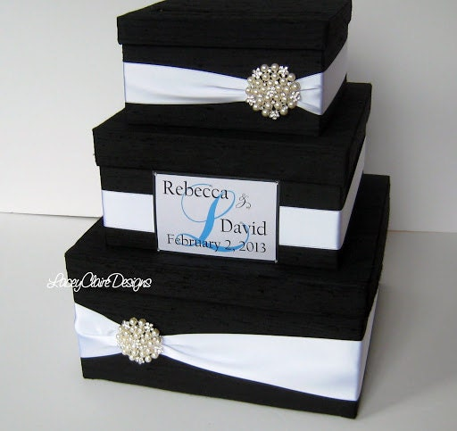 Etsy Wedding Gift Card Holder : Wedding Gift Box Card Box Money Holder by LaceyClaireDesigns