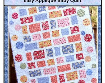 PDF  Appliqué Baby Quilt pattern Sophie's Park  Carlene Westberg Designs