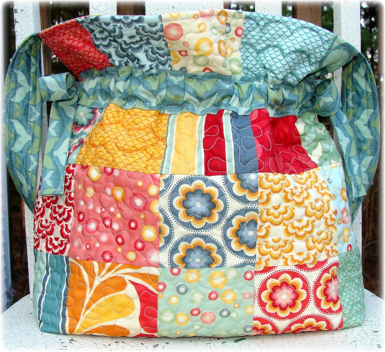 Pdf Bag Pattern Jumbo Drawstring Quilted Carlene Westberg