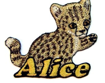 Iron on Patch Cheetah Name Personalized Free