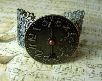 Steampunk Clock Face Bracelet