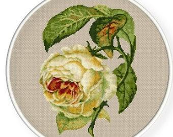 INSTANT DOWNLOAD,Free shipping,Cross stitch pattern, Cross-Stitch PDF, pattern design ,vintage rose  ,pillow pattern ,zxxc0293