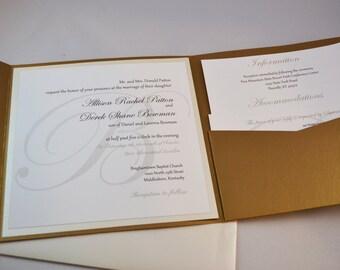 Printable PDF Monogram Wedding Invitations for the DIY Bride