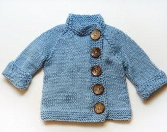 Stylish blue sweater