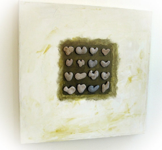Sprcial One Of A Kind Unique Wedding gift  - Wall decoration -  genuine Heart shaped Beach rocks from Israel