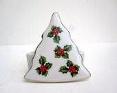 Christmas Tree Trinket Box - Small Porcelain Jewelry Box