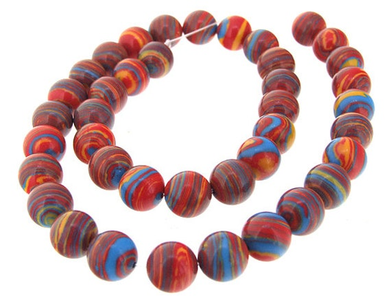 Red Malachite Stone : Charm round red malachite jasper mm gemstone one strand