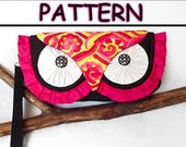 Ruffled Silk Owl Clutch Bag PATTERN may sell finished product in your Etsy shop.