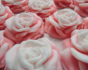 50 rose soap favors - roses bridal shower favors - flower wedding favors - garden birthday favors - pink roses baby shower favors - roses