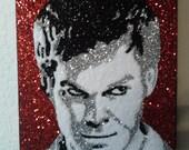 Dexter- glitter art 9x12