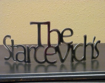 Personalized Family Name in Metal