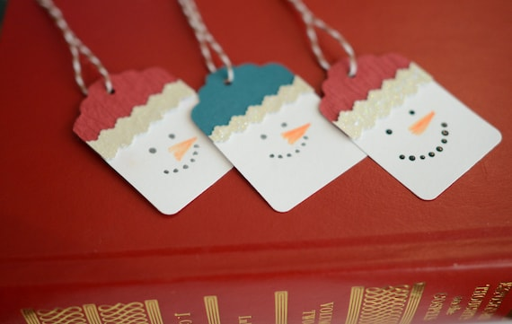 Snowmen Gift Tags Snowman Holiday Tags - Set of 10