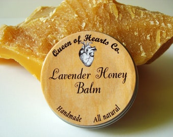 Lavender Honey Balm - For Lips, Elbows, Hands, and dry spots - Salve/Lotion - 1 oz