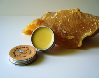 Small Lavender Honey Balm - For Lips, Elbows, Hands, and dry spots - Salve/Lotion - .5 oz
