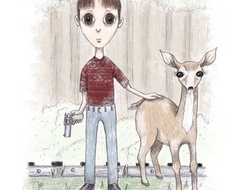 Gordie LaChance - Stand By Me - 5x7 Illustration Print