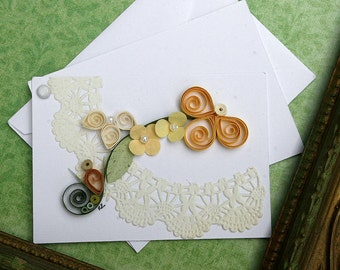 Quilled All Occasion Enclosure Card Yellows
