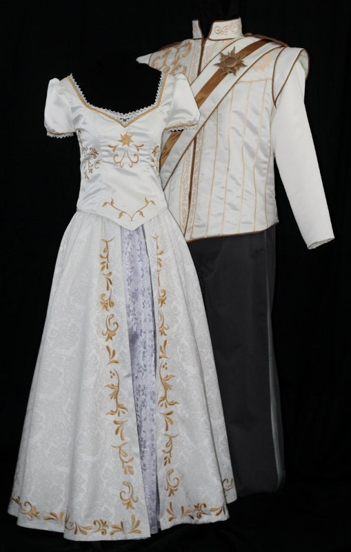 adult rapunzel wedding costume custom made by