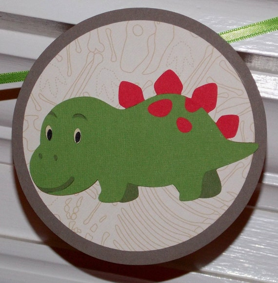 Dinosaur Happy Birthday Banner  ... Dinomite ... red blue orange green yellow ... READY TO SHIP  ... panels adjustable