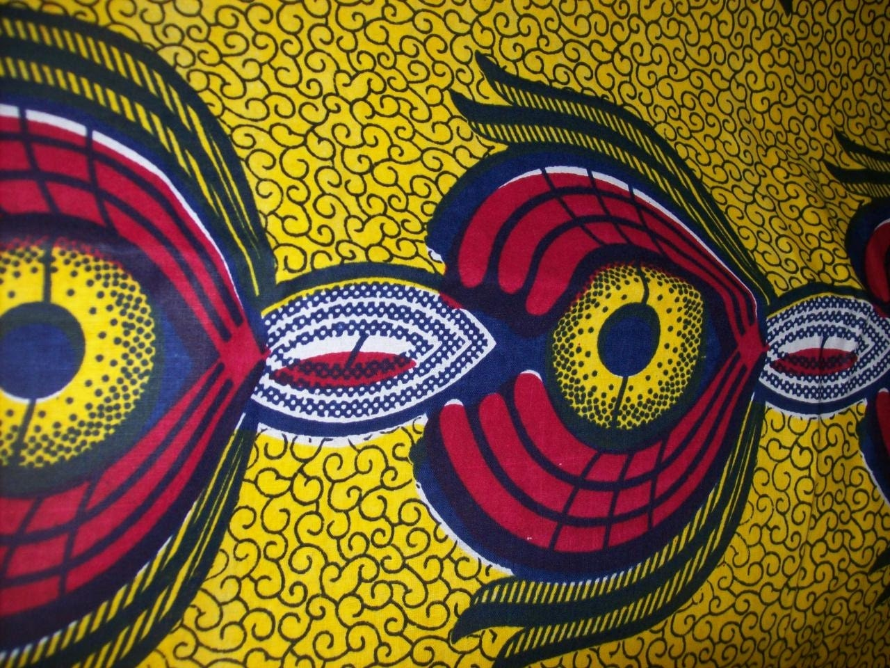 Wax Print African Fabric By The Yard By Tambocollection On