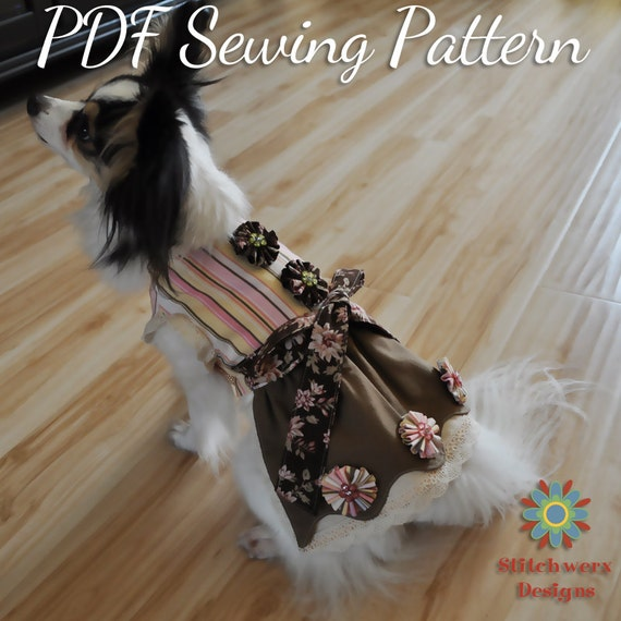 Dog wedding dress Pattern dog clothes Small dog clothes ...