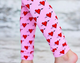 Leg Warmers Hearts Pink and Red Valentines Day Legwear
