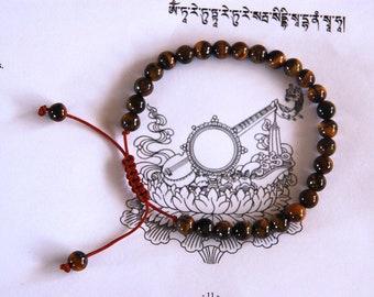 Small tiger eye wrist mala/ bracelet for meditation 6mm GMS-55