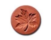 Imported Autumn Maple Leaf Ceramic Cookie and Craft Stamp