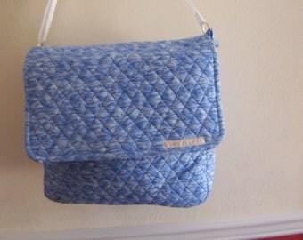 messenger bag  blue bag  shoulder bag