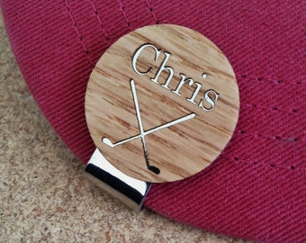 Personalized Wood Golf Ball Marker / Hat Clip - golf gift for man - Dad Gift, Men's Gift, Golfer - Father's Day Gift, Groomsmen Gift
