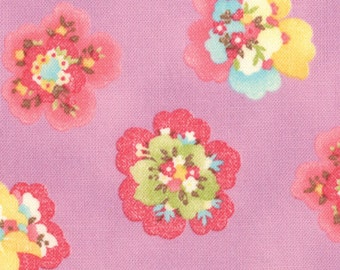Coquette - Pressed Flowers Lavender by Chez Moi for Moda Fabrics - Last Yard