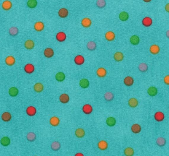 Bungle Jungle - Bungle Dots Turquoise by Tim & Beck for Moda Fabrics - Last Yard