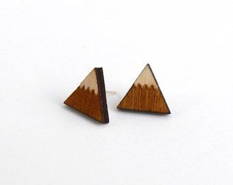 Woodland mountain stud earrings ~ laser cut jewellery