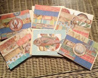 Ocean Themed Blank Cards 6 card Set                712012c