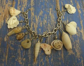 Hobe Sound Beach Shell Charm Bracelet No1
