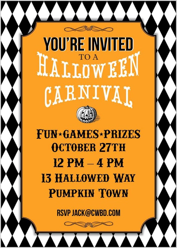 Halloween Carnival Printable Party