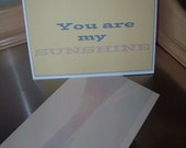 Whimsical birthday card handmade You are my sunshine happy birthday unique greeting card