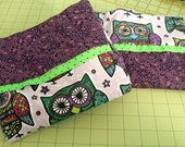 Pair of Pillowcases - Hot and Cold - Owls - Flannel and Cotton