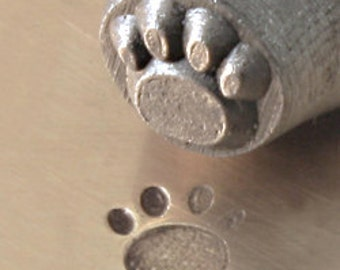 Metal Design Stamp ... 3mm Paw Print ... Pets..  for Stamping, Jewelry, Key Chains, Scrapbooking, Wood, Clay, Leather, more....