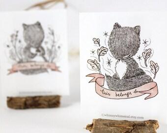 12 Bookplates - Squirrel