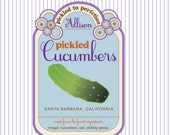 in a pickle - pickled cucumbers - custom pickle label