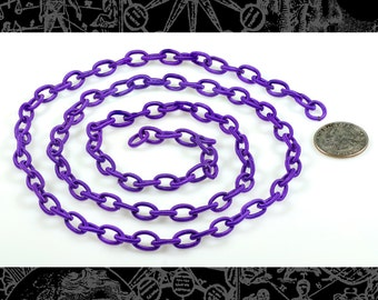 Purple Silk Wrapped Chain, 36 inches  CH3