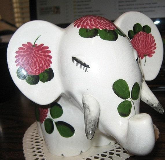 Wemyss Plichta Hand Painted Elephant  (Price Reduced)