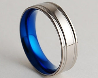 Mens Wedding Band , Titanium Ring , Adonis Band with Comfort Fit