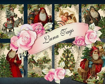 INSTANT DOWNLOAD Vintage Santa's   No.196 Personal Use Only