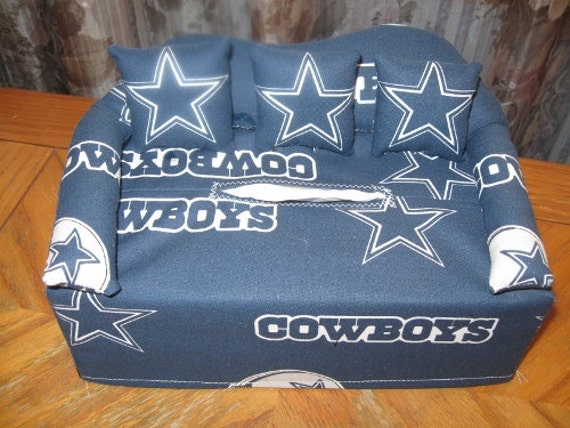 Dallas Cowboys Sofa Tissue Box Cover By Sewsmartdesigns On