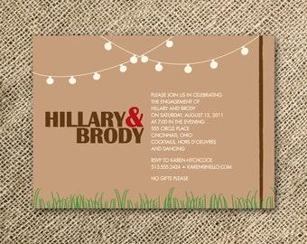 handmade backyard wedding invitation   etsy, Wedding invitations